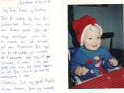 Scan15156 JULEKORT FRA LISBET OG JENS 20-12-1992