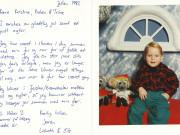 Scan15157 JULEKORT FRA LISBETH OG OLE 1992